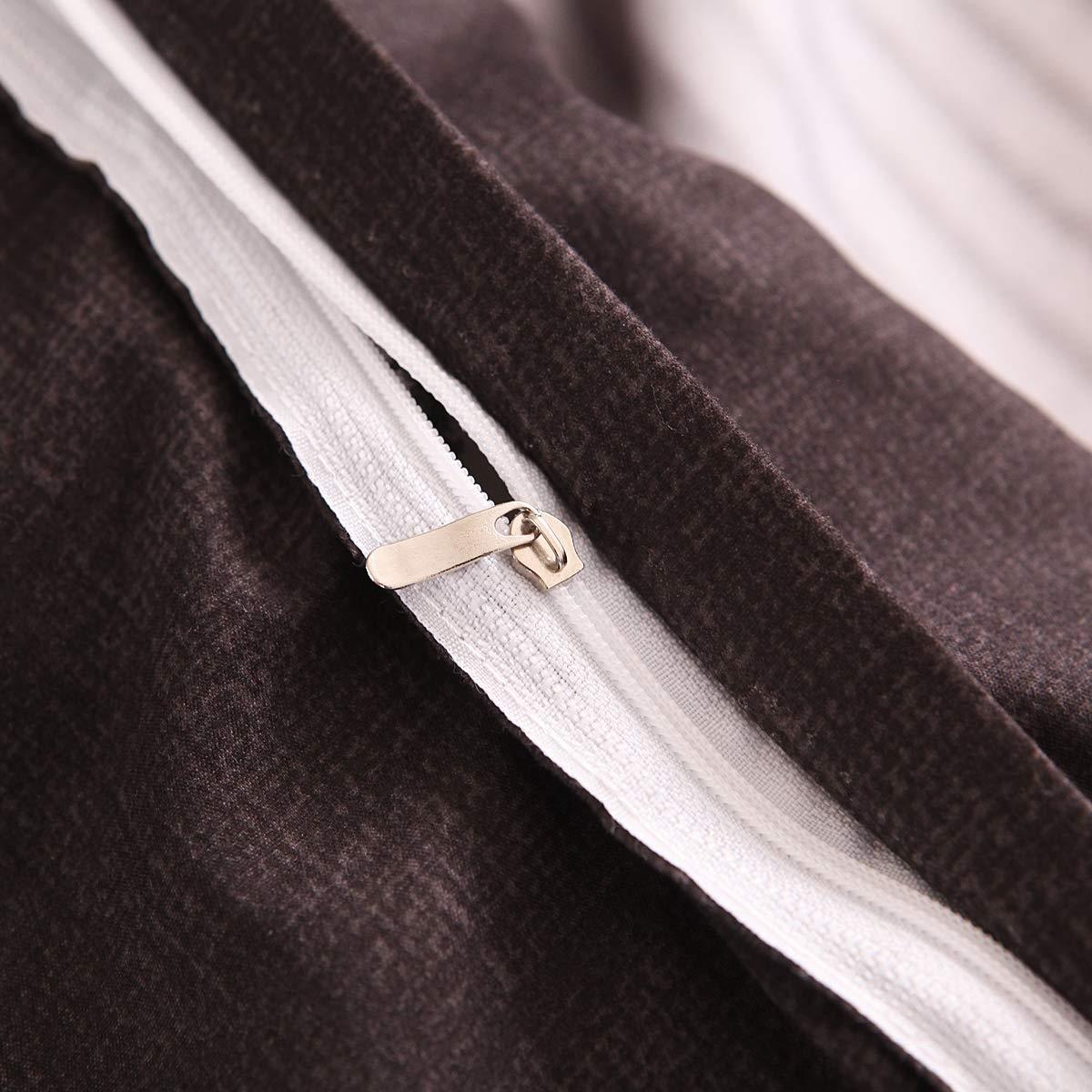 200cm*200cm YMNL Funda N/órdica Traje De Tres Piezas Raya Colores Mezclados Moda Sencillo Ropa De Cama Fundas Nordicas Juveniles Cubierta De Colcha * 1 + Funda De Almohada * 2