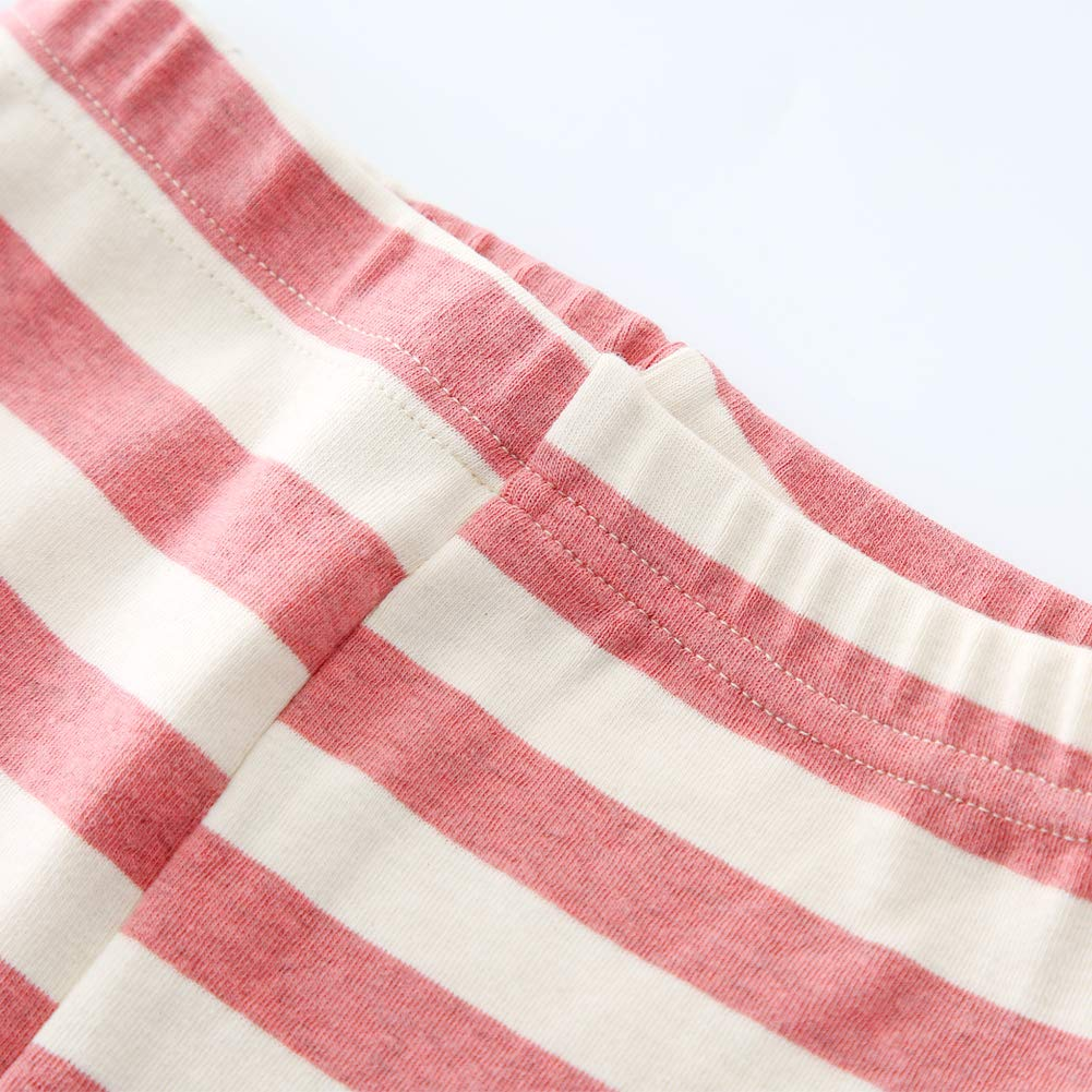 Tigerhu Girls Boys Pajamas Set with 2 Piece Tee and Pant Toddler Kids Cotton Pjs Sleepwear