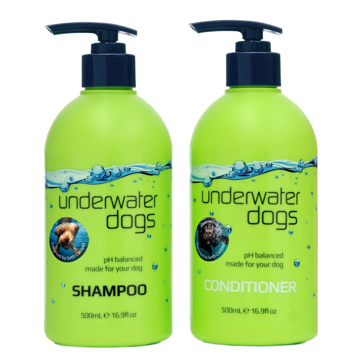 Underwater Dogs - Soap Free Dog Shampoo and Conditioner Set - 16.9 Fl. Oz. Vanilla/Coconut - Eliminates Pet Odor and Relieves Itchy Skin by Underwater Dogs