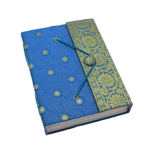 5 opinioni per Fair Trade Quaderno ricoperto in tessuto sari 140 x 185mm grande blu