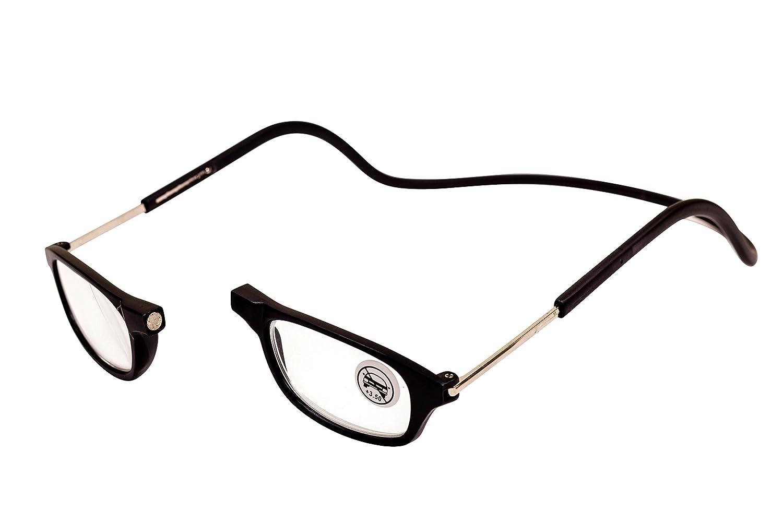 Designer lunettes de lecture magnétiques avec sangle de cou, livre,  ordinateur, utilisation du soir réduire la fatigue oculaire   Bordé, pliable,  ... 4aed3ac3851e
