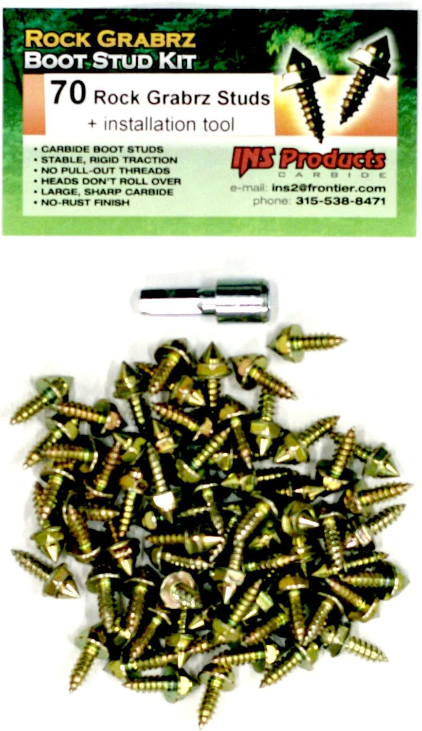 INS Products Rock Grabrz Boot Studs, for Surf,Shore,Streams,Rivers and Ice Fishing, Loggers, Forestry