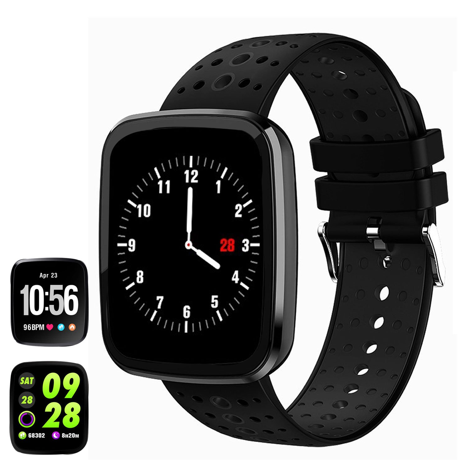 feifuns Fitness Tracker Watch, 1.3'' Color Touchscreen with Heart Rate Watch Blood Pressure Monitor, IP67 Waterproof, Step Counter Watch, Pedometer, Sleep Monitor, Smart Watch for Women Men Kids