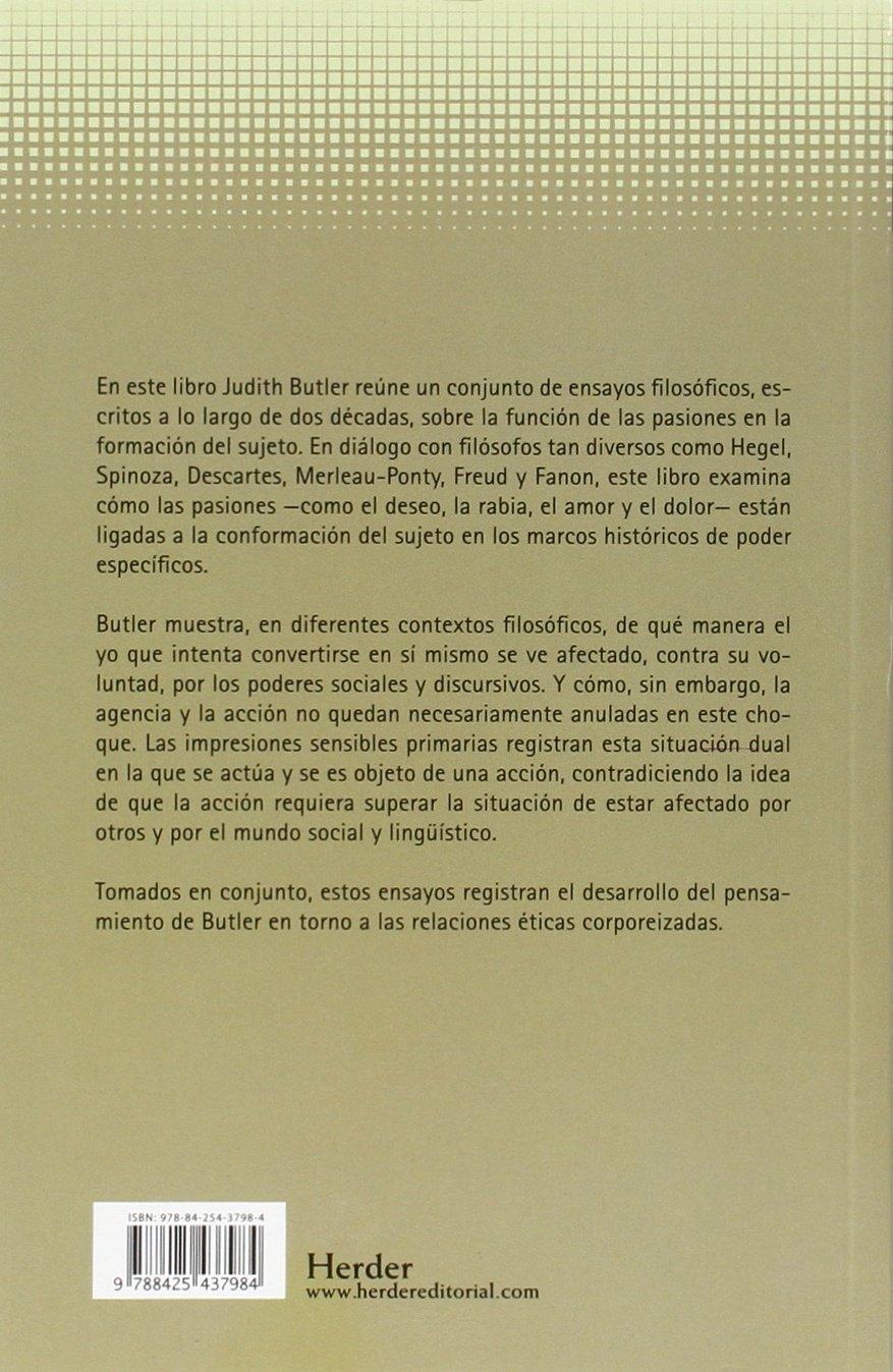 Sentidos del sujeto,Los (Pensamiento Herder): Amazon.es: Judith Butler: Libros