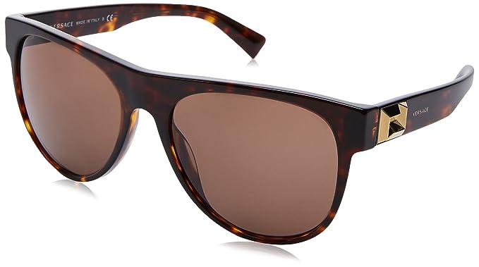 be8115e58e3934 VERSACE Men s 0VE4346 108 73 57 Sunglasses, Havana Brown  Amazon.co ...