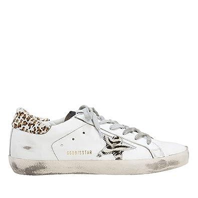 8d5e28bc06458 Amazon.com | Golden Goose Women's Superstar Zebra-Star G34WS590.M87 ...