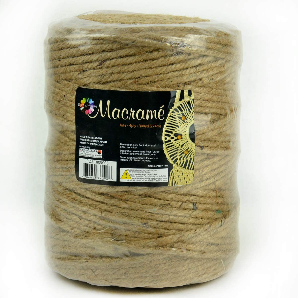 2ply Art and Crafting String Natural Jute Twine String for Crafts 1200 Ft Gift Wrapping Rope by Monfor