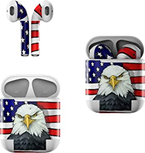 Skin Decals for Apple AirPods - American Eagle - Sticker Wrap Fits 1st and 2nd Generation