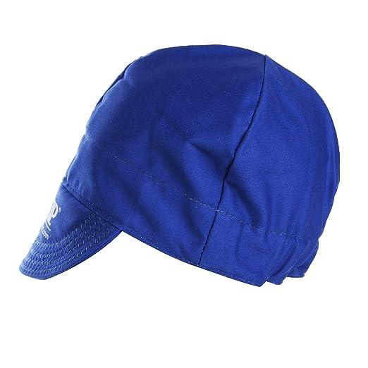 ChaRLes Universal Elástico De Soldadura Ignífugo Paño Sombrero Gorra De Protección De Cabeza - Azul: Amazon.es: Bricolaje y herramientas