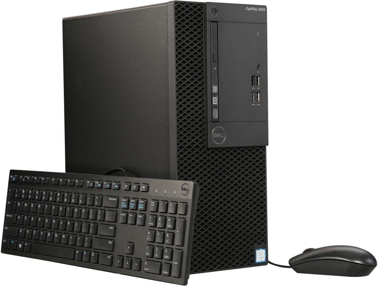 Dell OptiPlex Mini Tower (MT) Business Desktop PC, Intel i5-7500 Quad-Core 3.4 GHz, 128GB SSD + 1TB HDD, 8GB DDR4, Ethernet, USB 3.0, DVD±RW, Display Port/HDMI, Windows 10 Pro, includes Keyboard+Mouse