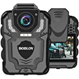 BOBLOV T5 1296P Body Camera with Audio Recording Wearable Police Body Camera for Law Enforcement, Night Vision, Loop…
