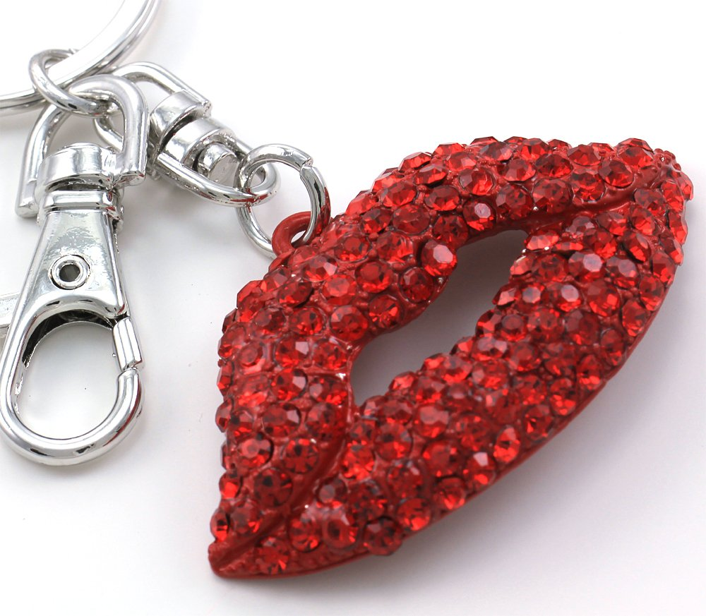 Perfect Valentine's Day Gift and Mother's Day Gift Red Big Love Sexy Lips Keychain Key Ring Charm