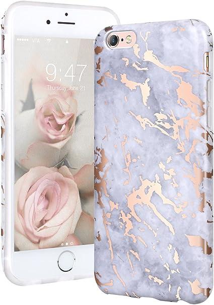 YT MARQUEEN Cover iPhone 6/6S, Marmo Modello Desgin Morbido TPU Custodie Protettivo Bumper Flessibile Silicone Gel Anti Graffi Ultra Slim Cover per ...
