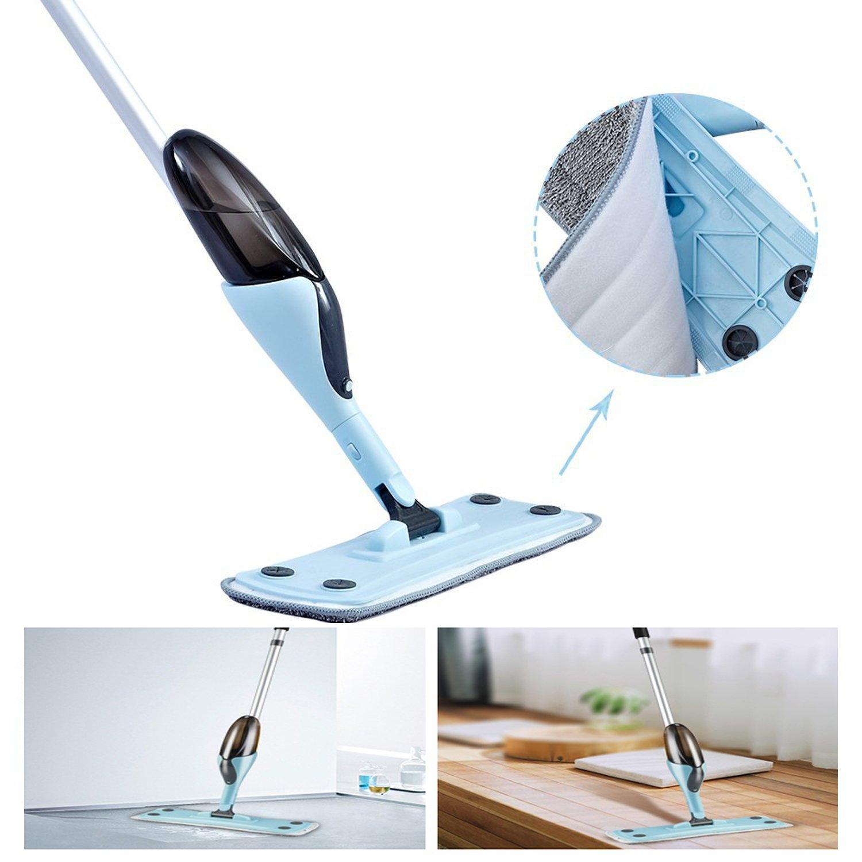 FreedomDesign Microfiber Hardwood Floor Spray Mop 360 Degree Professional Spray Mop for House Kitchen Hardwood Ceramic Floor Includes: Reusable Microfiber Pads (Blue) by FreedomDesign (Image #5)