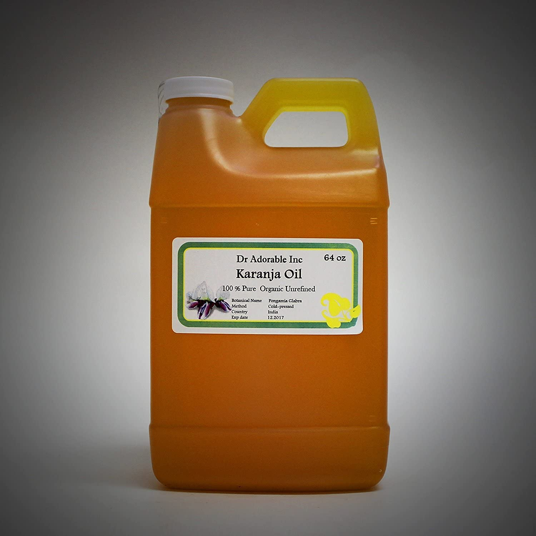 Aceite de karanja orgánico 100% puro 64 oz/2 cuartos