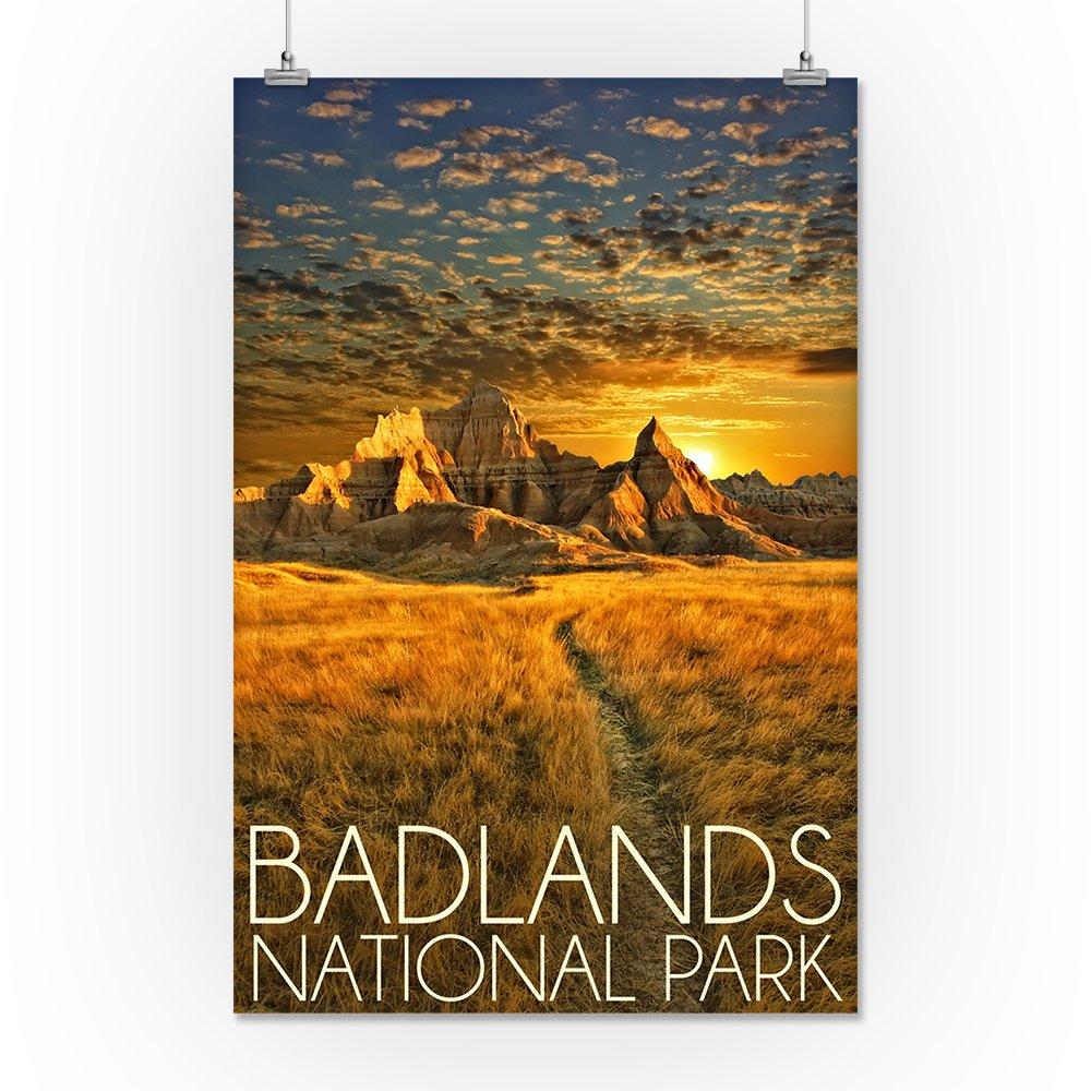 Amazon.com: Parque Nacional Badlands, Dakota del Sur Puesta ...