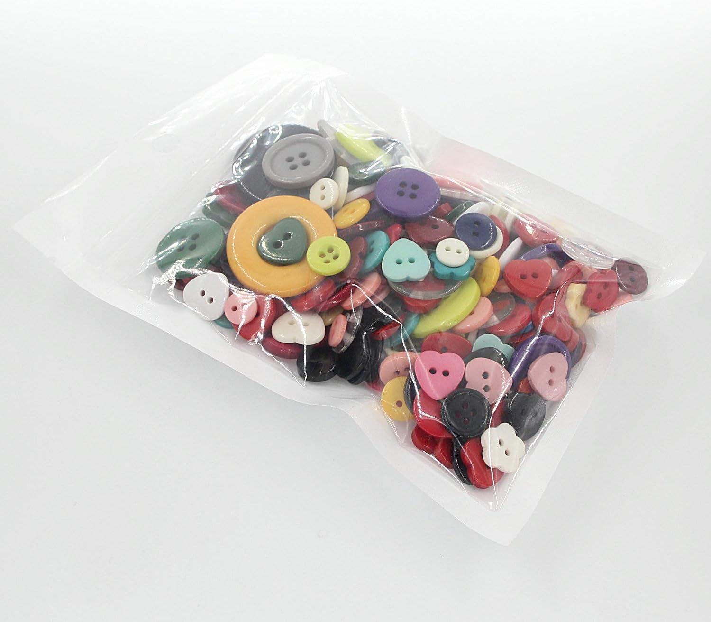Boutons de bricolage de couleurs assorties en vrac pour travaux manuels couture peinture manuelle pour enfants 100 /à 200 pi/èces au hasard 100 g bricolage d/écoration faite /à la main