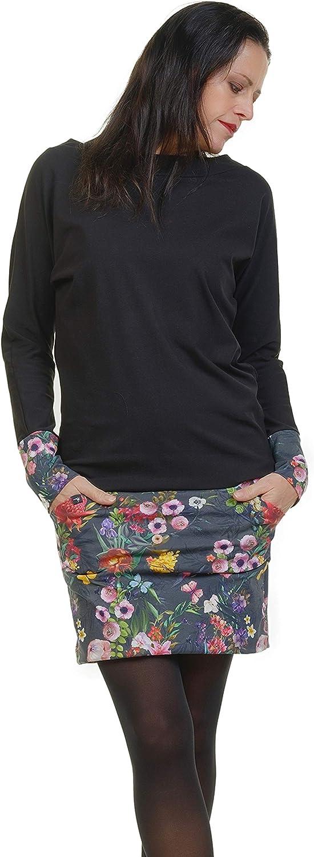 3elfen Robe Pull Femme - Sweat Hiver Robes Avec Des Poches De Gecko