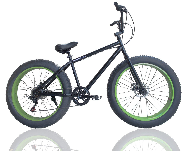 ファットバイク FAT BIKE 26インチ 7段変速ギア付き 自転車 (グリーン) B0759F11DP