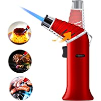 GIKPAL Butane Refillable Kitchen Torch w/Safety Lock and Adjustable Flame