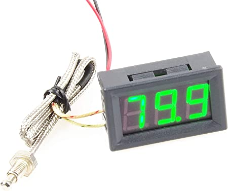 Cold Hot Digital Thermometer 12V Monitoring Temperature New Probe Car