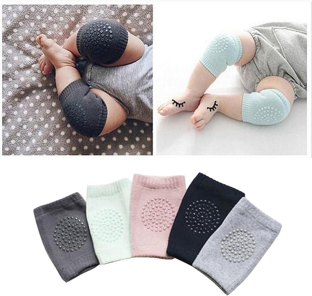 5 Pairs Toddler Baby Anti-skip Knee Pad Crawling Safety Elbow Guard Protector