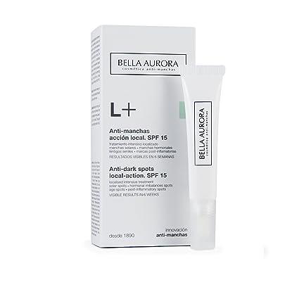 Bella Aurora L+ Crema Facial Mujer Anti-Manchas para Manchas Localizadas en la Cara | Despigmentante | Acción local | Día y Noche SPF 15, 10 ml: Amazon.es
