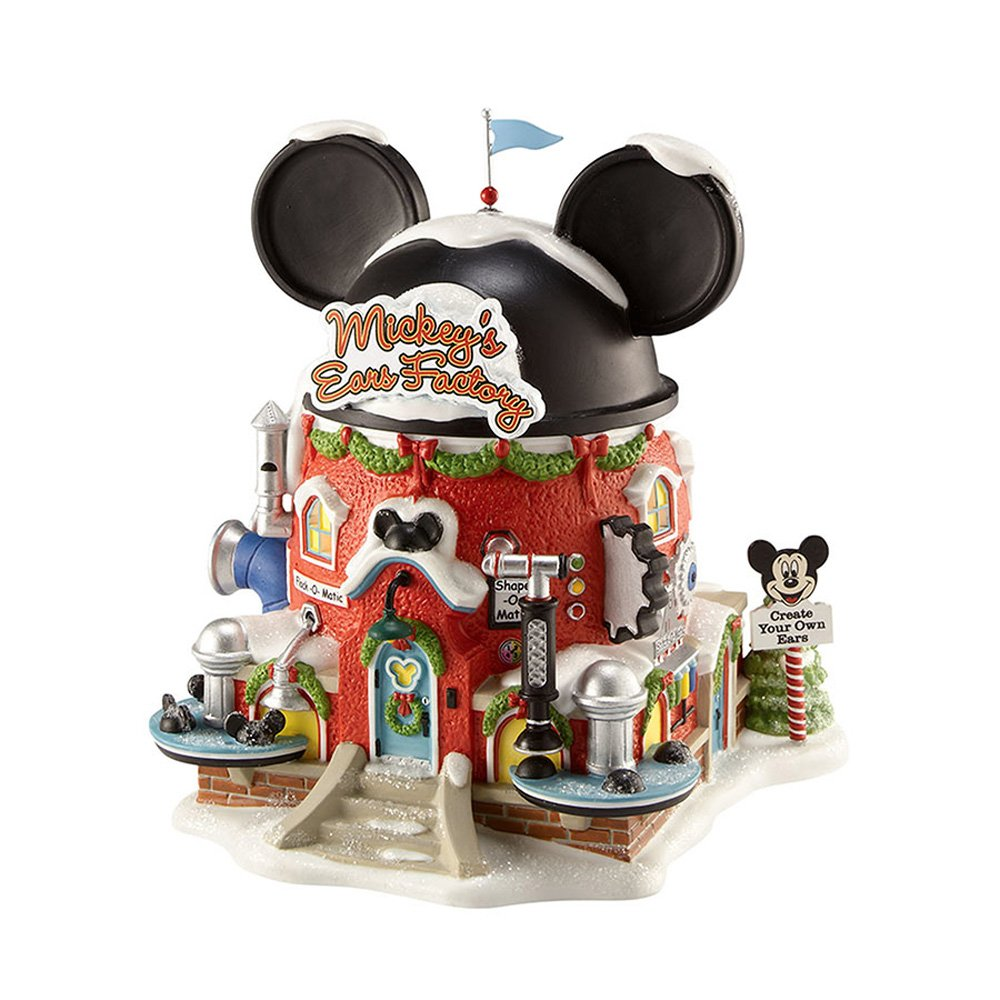 Department 56 North Pole Village Mickey's Ear Factory Miniature Lit Building by Department 56