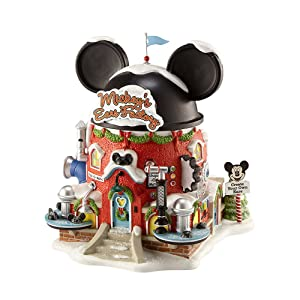 Department 56 North Pole Village Mickey's Ear Factory Miniature Lit Building
