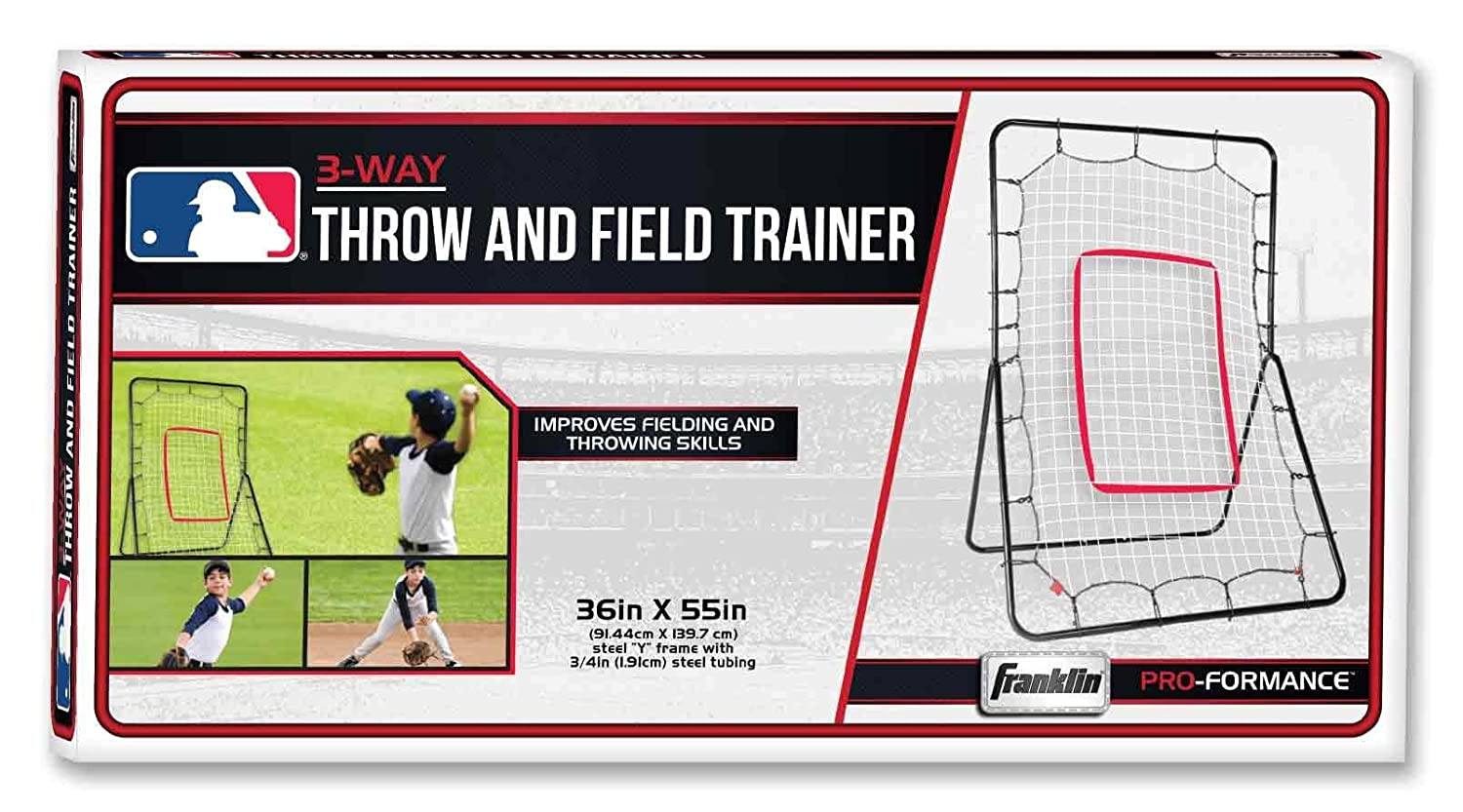 Franklin Sports Baseball Pitch Back Fielding and Throwing 55 x 36 Inch Renewed Trainer for Pitching