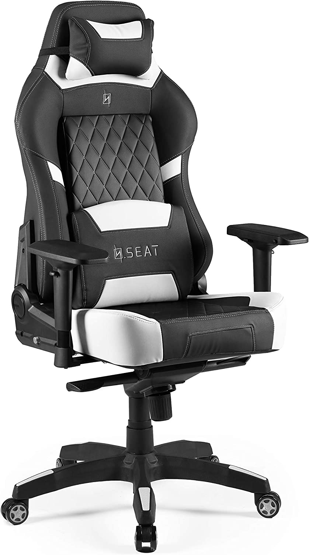Pelle in PVC Nero Seat Sedia da Ufficio Gaming 33.6x74.4x82cm N