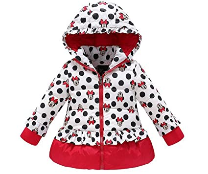 7ea14a324 Amazon.com  Minnie Mouse Winter Coats Little Toddler Girls Hooded ...