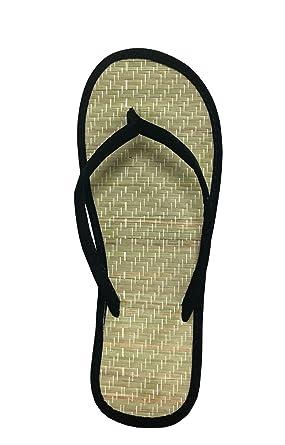 b64adc59da4c Women s Bamboo Sandal Flip Flops Flats Beach Summer Shoe Comfort  Clearance-1212(5 Black