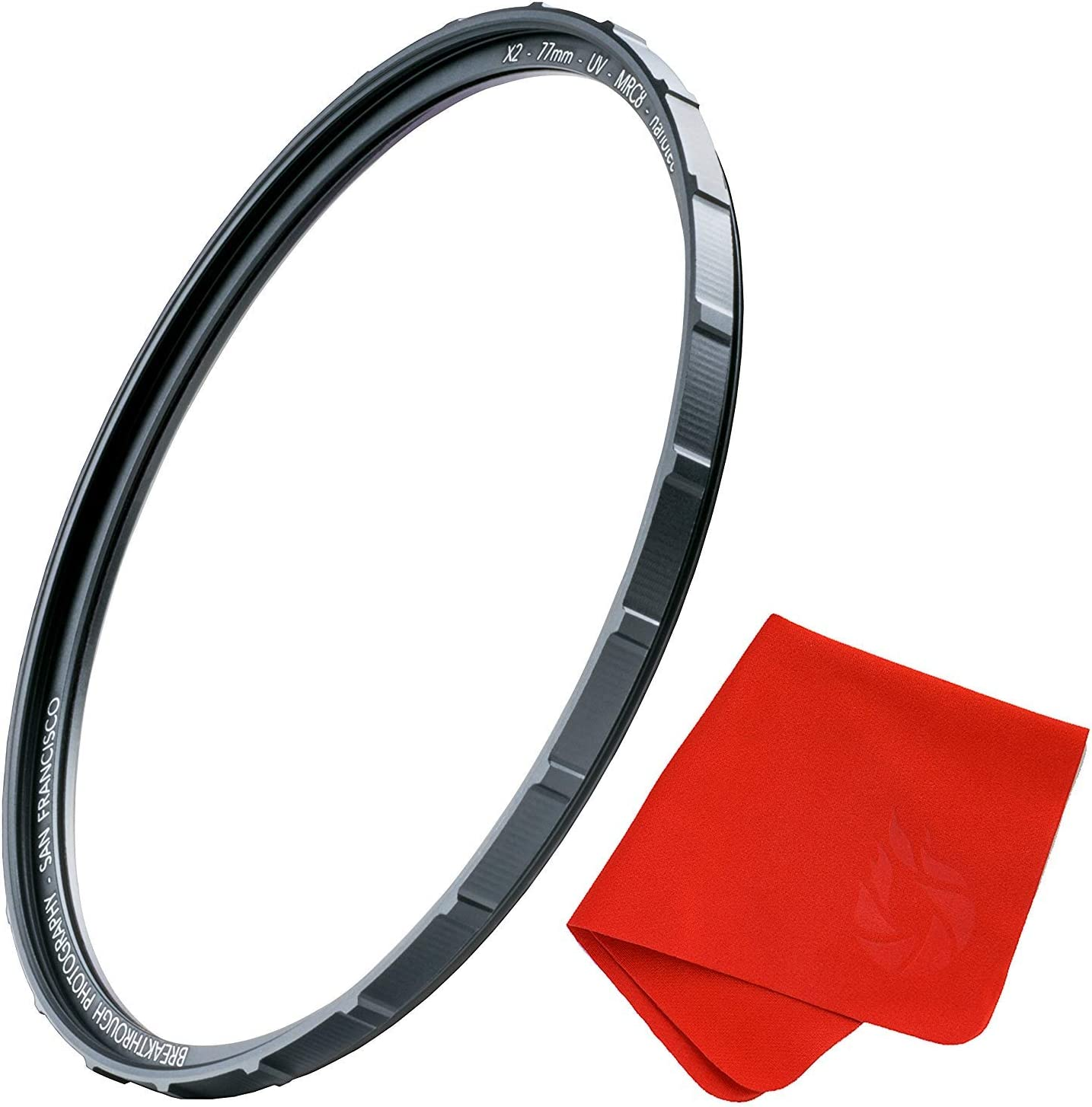 Ultra-Slim Traction Frame MRC8 52mm X2 UV Filter for Camera Lenses Weather-Sealed by Breakthrough Photography Nanotec Coatings UV Protection Photography Filter with Lens Cloth