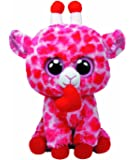 Ty Beanie Boos Jungle Love Giraffe in Pink with Heart 23 cm