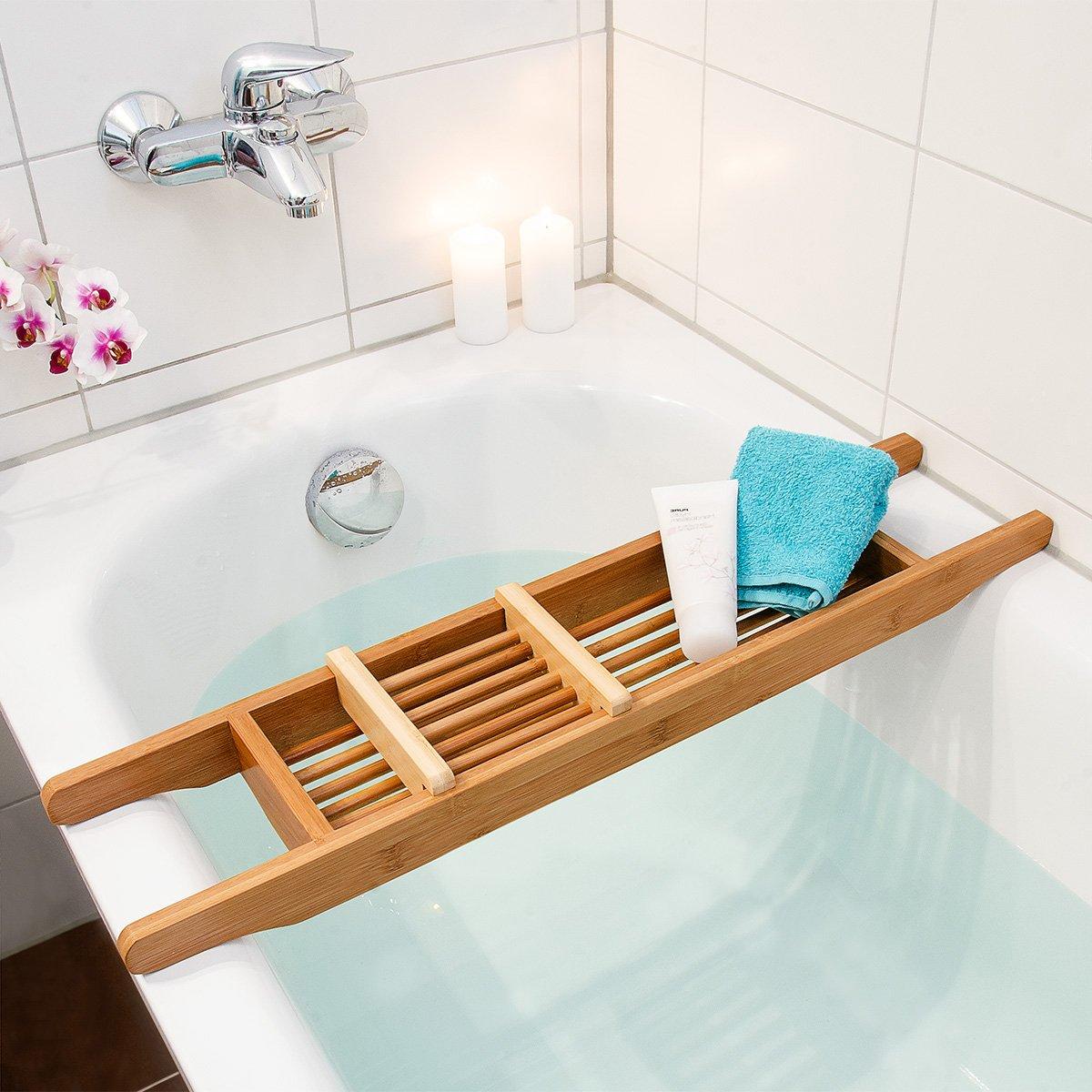 Relaxdays Vassoio per Vasca da Bagno di Bambù, 69 X 14 cm: Amazon ...