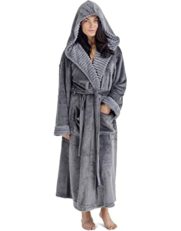 58fab90295 CityComfort Ladies Dressing Gown Fluffy Super Soft Hooded Bathrobe for  Women Plush Fleece Perfect for Spa