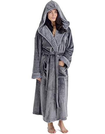 550b338faf CityComfort Ladies Dressing Gown Fluffy Super Soft Hooded Bathrobe for  Women Plush Fleece Perfect for Spa