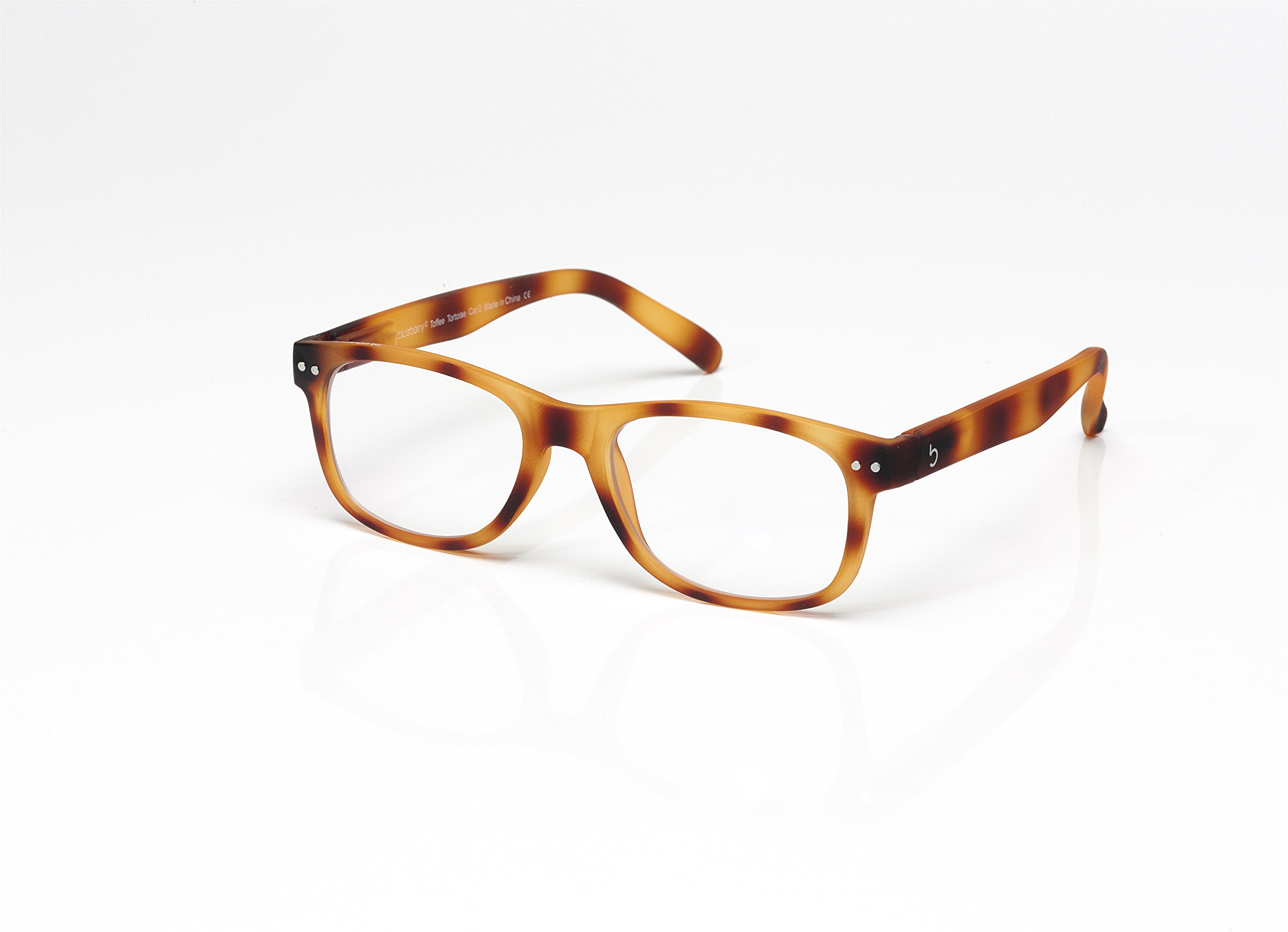 Blueberry - Computer Glasses - Size L - Brown - (Toffee Tortoise, Clear)