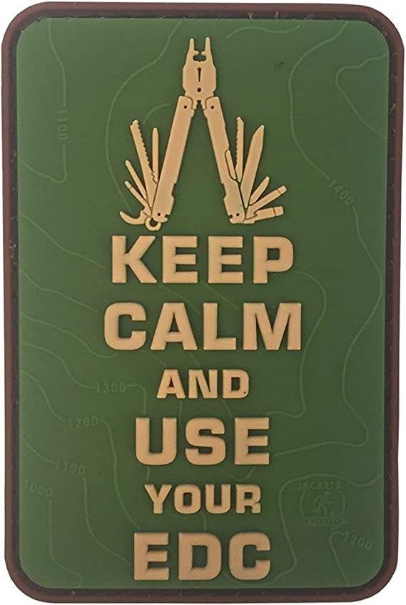 JTG 3D Patch Keep Calm and use your EDC blackops