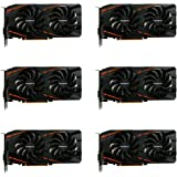 6 Packs of GIGABYTE Radeon RX 470 DirectX 12 GV-RX470WF2-4GD-MI Video Card