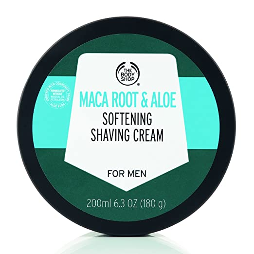 36e054a144b6a The Body Shop Maca Root & Aloe Softening Shaving Cream for Men, 6.3 Oz
