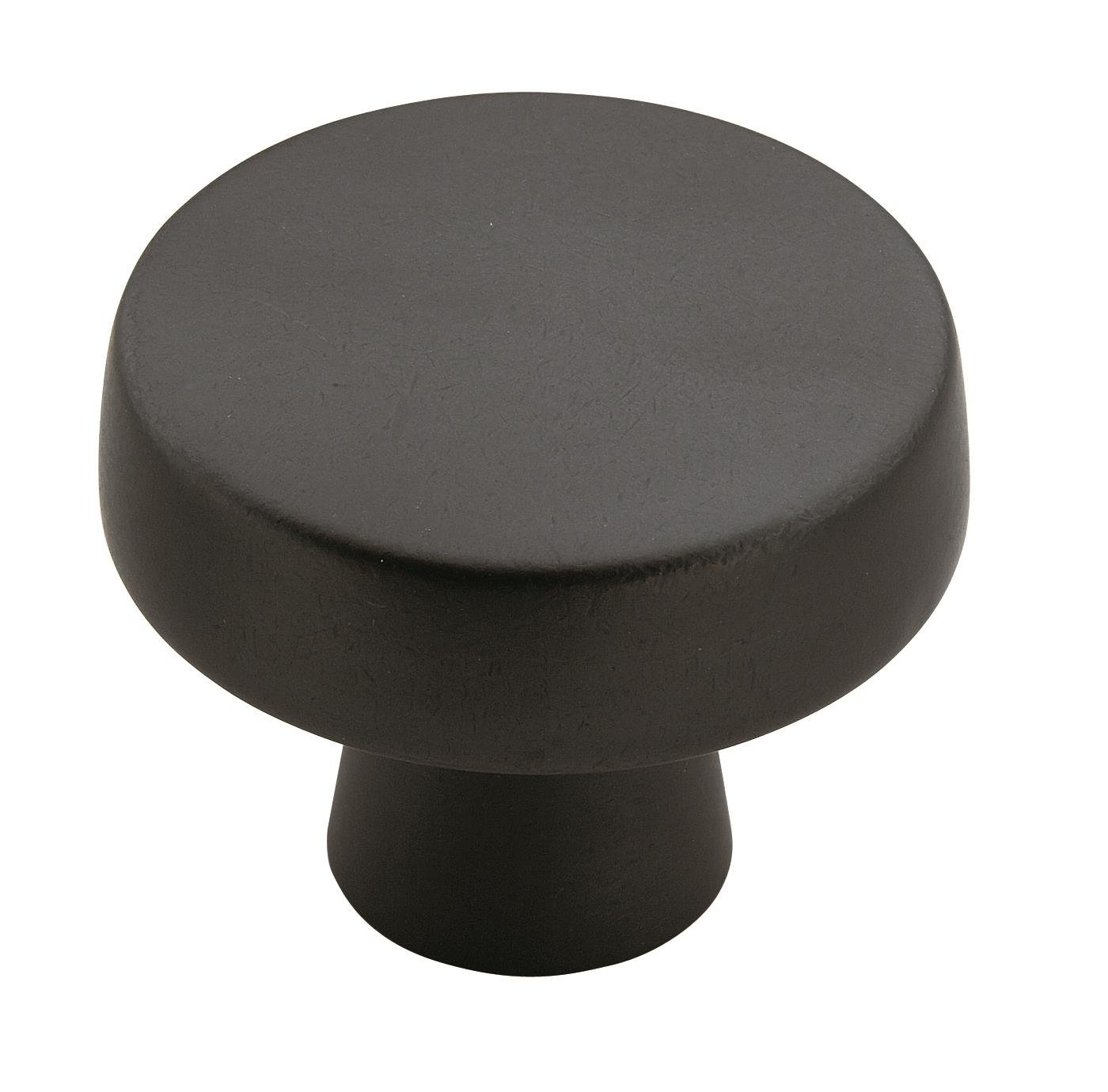Amerock BP55272BBR Blackrock 1-5/8 in (41 mm) Diameter Black Bronze Cabinet Knob