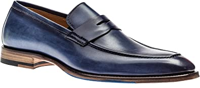 Navy Blue,Size EU 42 Jose Real Shoes Navy Blue Mens Oxford Genuine Real Italian Leather Shoe