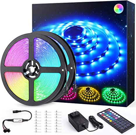 16m Led Striscia Luci Colorate Kit Novostella 480 5050 Strisce Led Nastro 44 Tasti Rf Telecomando 20 Colori 6 Modalita Dimmerabili 24v Strip Light Ideale Per Interni Casa Camera Da Letto Cucina Amazon It Illuminazione