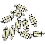 TOOGOO(R) 10 x Bombillas 8 LED SMD 5050 CANBUS blanca para coche carros luz festoon dome
