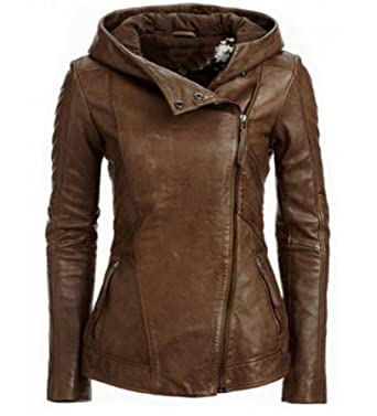 Damen winter leder jacke