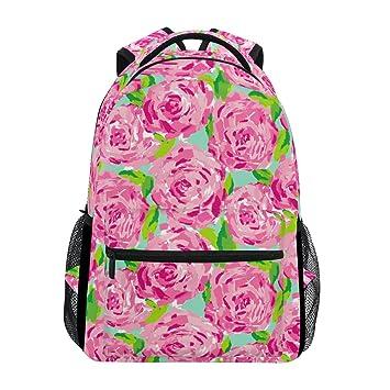 COOSUN Rosas de Color Rosa Patrón Casual Mochila Mochila Escolar Bolsa de Viaje: Amazon.es: Equipaje