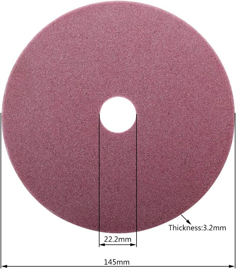 Rtengtunn Afilador de Motosierra eléctrica Muela de Diamante 98/105/145 mm Espesor 3,2/4,5 mm Borde de Corte y Pulido Dientes de Sierra de Cadena - 145X22.2X3.2mm