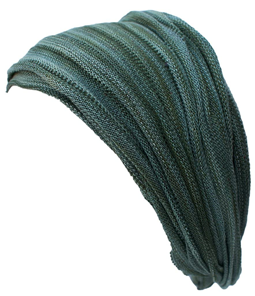 Little Kathmandu Mehrfarbige Stretchable Doppel Lange Stirnband Bandana Grey Blue Tie Dye